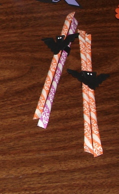 Halloween pixie stick holdes