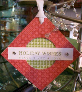 Holiday kit- red diamond shaped ornament