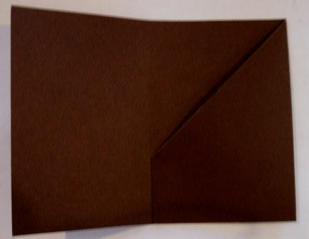Brown gift card - base folded