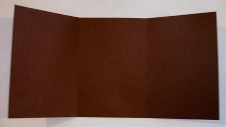 Brown gift card - base with slight fold on score lines