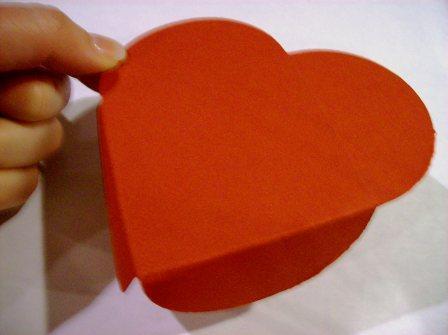 Petal card folded into heart
