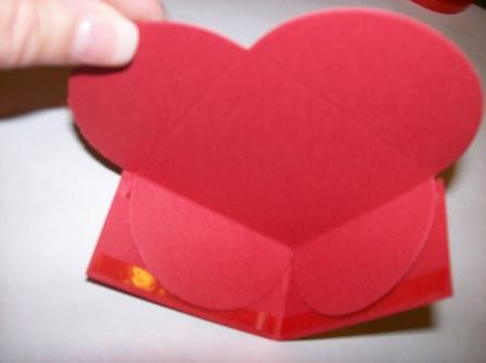 Inside view of side attached to heart box