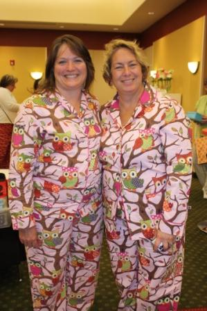 Pam and I in matching PJ's