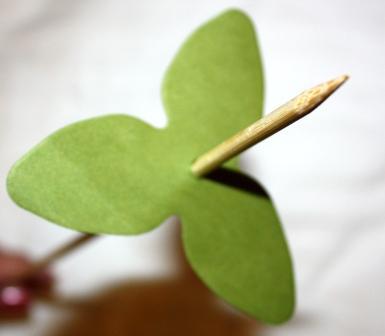 Island blossom die on stick