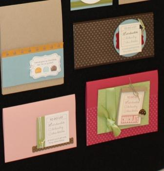 Chocolate set cards 3 - 6
