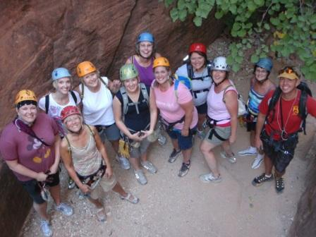 Our rapelling group near beginning of trip