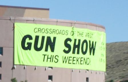 Gun show sign