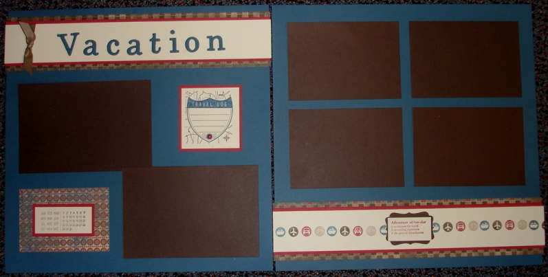 Vacation scrapbook pages
