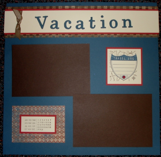 Vacation scrapbook page 1