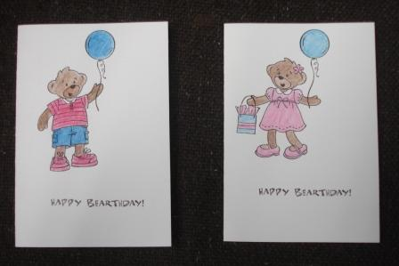 Build a Bear Cards made with kit