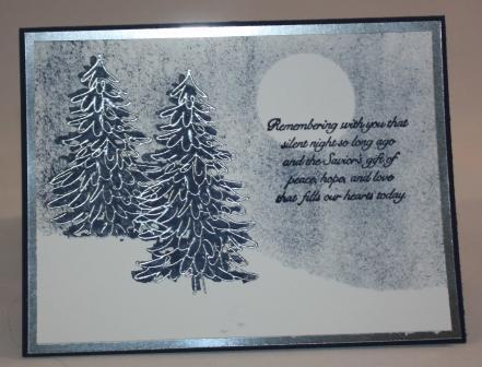 silent night christmas card my stamping garage