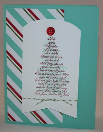 Merry little christmas - evergreen card