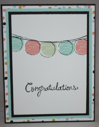 Happy congratulations card - one step up