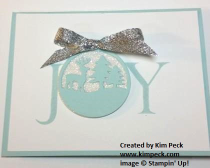 Joy Nativity ornament card