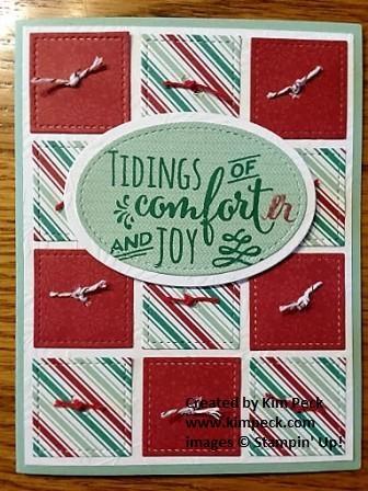 Christmas comforter card 2