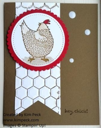 Hey Chick, Chiken Wire - my card