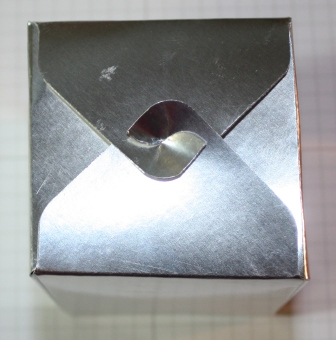 Silver box finsihed - gift box punch board