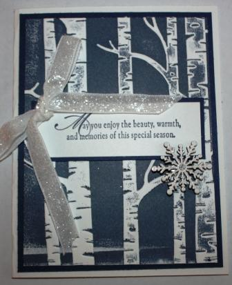 Birch and snowflake card