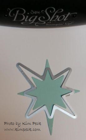 Christmas star framelit - second pass