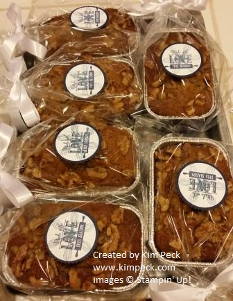 Banana bread with tags