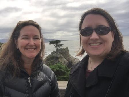 Meg and julie in front of lone cypress
