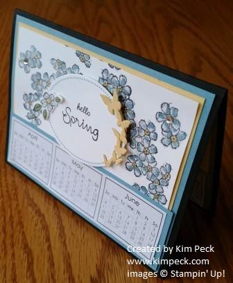 Desk calendar - spring