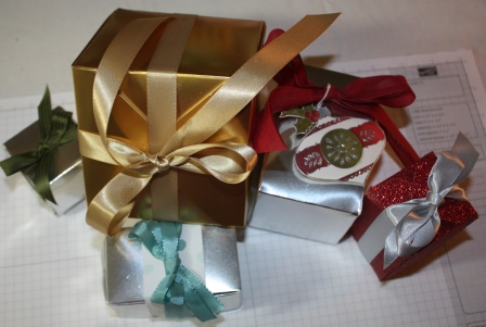 Gift boxes - punch board