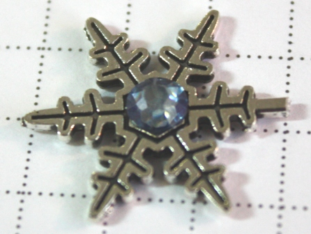 Snowflake with rhinestone