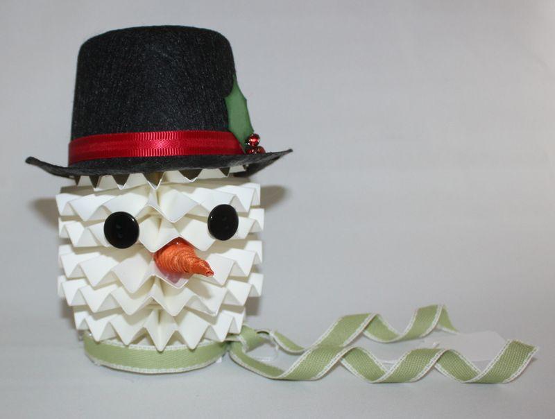 Larger snowman