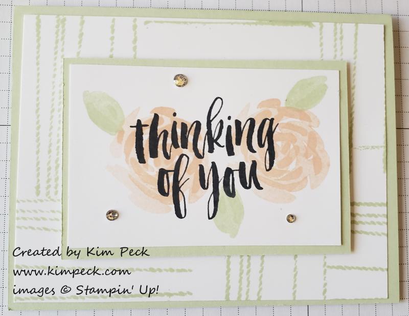 String Background  Floral Card