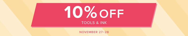 10% off tools and ink