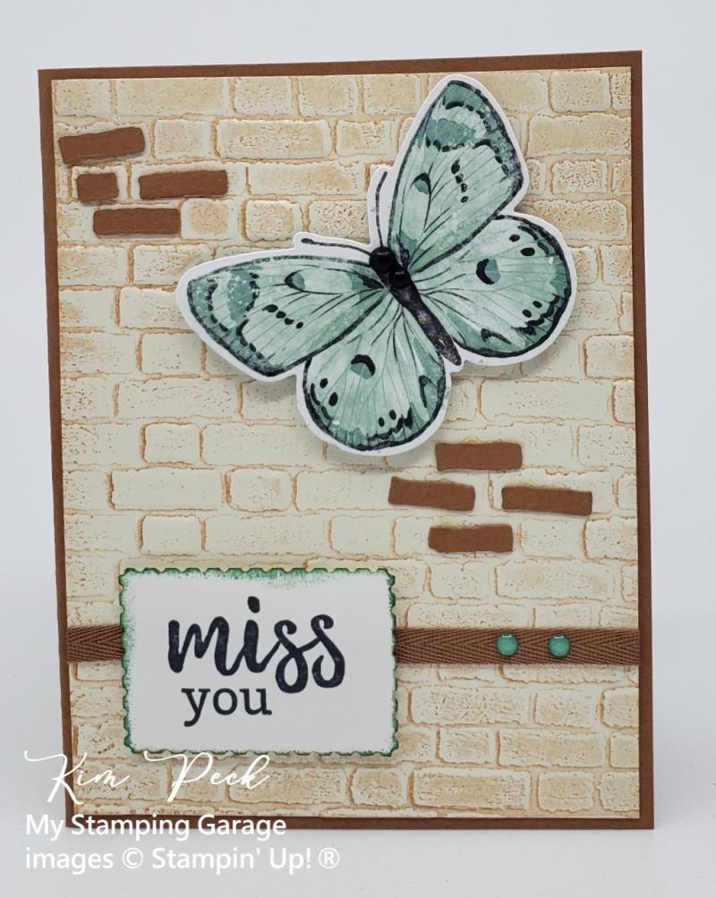 Butterfly on Brick wall- wm