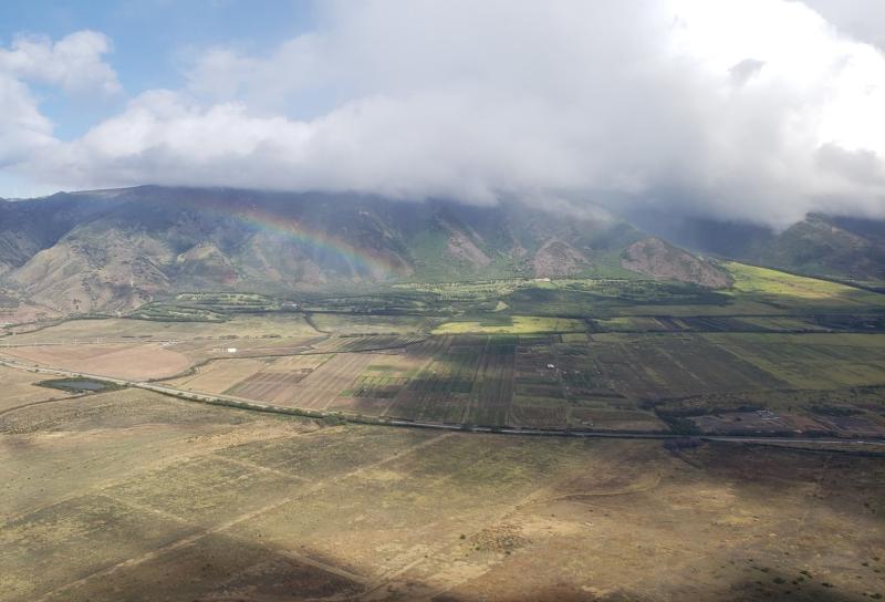Rainbow from plane